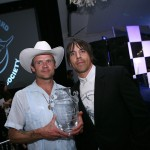 Flea and AK with the award