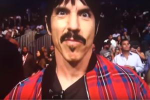 Anthony Kiedis at UFC 202, August 2016
